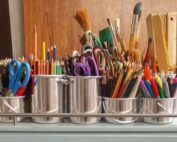 art-supplies-brushes-rulers-scissors
